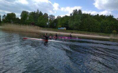 Kajakarki SMS Siarka Tarnobrzeg  wznowiły treningi na wodzie